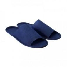 Тапочки одноразовые синие с открытым мысом