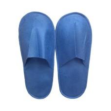 Тапочки одноразовые синие с закрытым мысом