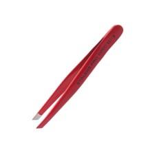 Пинцет Staleks для бровей (широкие прямые кромки, красный) Expert 11/1